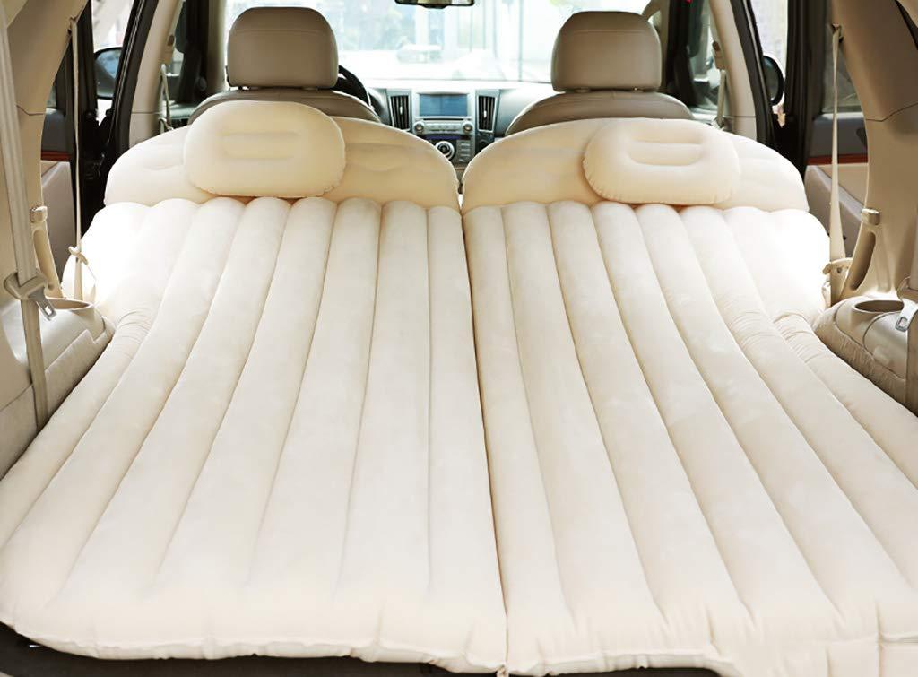 Inflatable bed Aufblasbares Bett ZCJB Reise-Rücksitz, verlängerte Matratze, Universal-Autokissen, beflockt, Camping Luftmatratze für Kinder beige