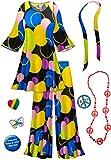 Double Bubble-Blue 2PC Plus Size Hippie Costume Basic Kit 3x