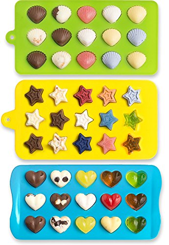 Candy Silicone Chocolate Hearts Shells product image