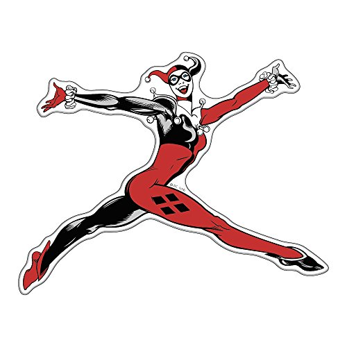Fan Emblems Harley Quinn Batman Character Car Decal Domed/Multicolor/Clear, DC Comics Automotive Emblem Sticker Applies Easily to Cars, Trucks, Motorcycles, Laptops, Windows, Almost Anything
