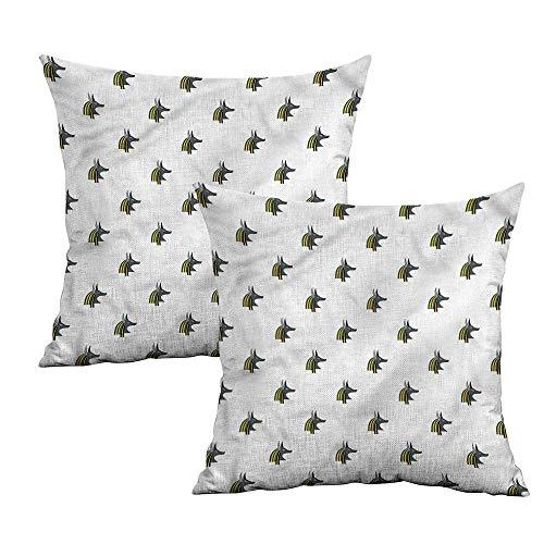 Khaki home Egyptian Square Travel Pillowcase Jackal Head Religion Square Pillowcase Covers Cushion Cases Pillowcases for Sofa Bedroom Car W 16