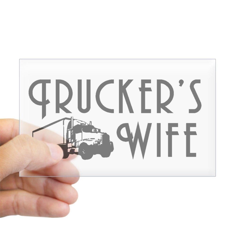(お得な特別割引価格) CafePress - Trucker's CafePress Wife Rectangle Sticker Sticker Rectangle - CafePress 3x5 Clear by CafePress B00PRA2OZW, 家具のファンタス:55af8daf --- mvd.ee