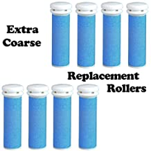 Extra Coarse Blue Micro Mineral Replacement Rollers for Emjoi Micro Pedi (8 pack)