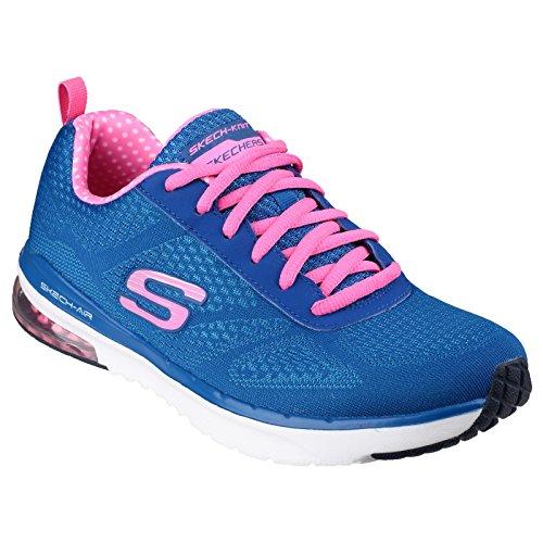 Skechers Air Infinity - Zapatillas de Sintético Mujer Azul/rosa