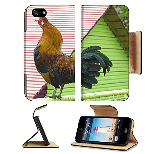 Liili Premium Apple iPhone 5 iphone 5S Flip Pu Leather Wallet Case iPhone5 ID: 27415343 Colorful roster in closeup shot