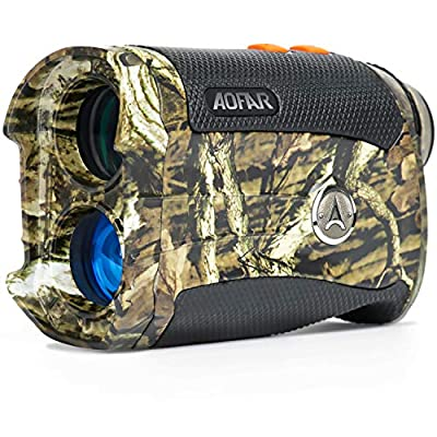 AOFAR Range Finder for Hunting Archery H2 600/1000 Yards Shooting Wild Waterproof Coma Rangefinder, 6X 25mm, Range and Bow Mode, Free Battery Gift Package from AOFAR