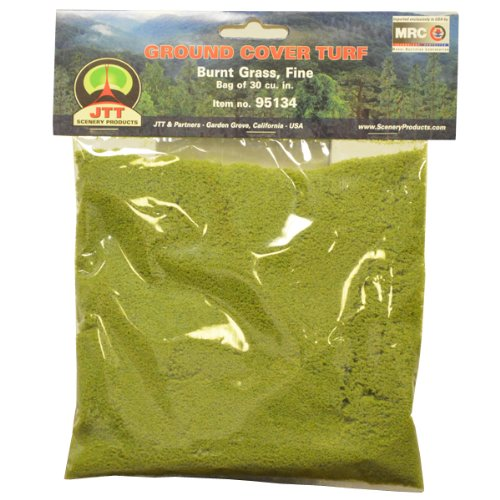 JTT Scenery Products Ground Cover Turf, Burnt Grass, Fine