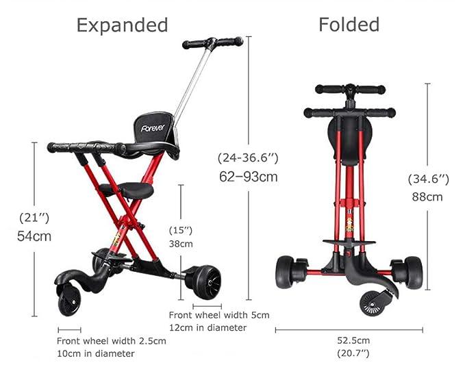 Amazon.com: COOL-Series Trike - Cochecito de triciclo para ...