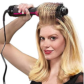 1000W Professional Hair Dryer Brush 2 In 1 Hair Straightener Curler Comb Electric Blow Dryer With Comb Hair Brush Roller Styler Without box US
