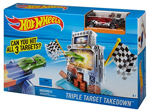 41y0cq3kCnL Hot Wheels Triple Target Takedown Track Set