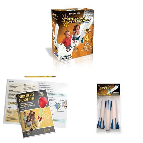 - The Original Stomp Rocket: Jr. Glow in the Dark 4-Rocket Kit (20005) with Stompin' Science: Making Science A Blast Kit
