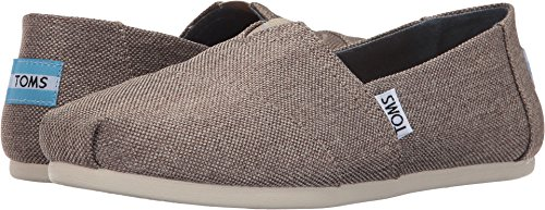 TOMS Women's Classics Desert Taupe Poly Canvas Loafer