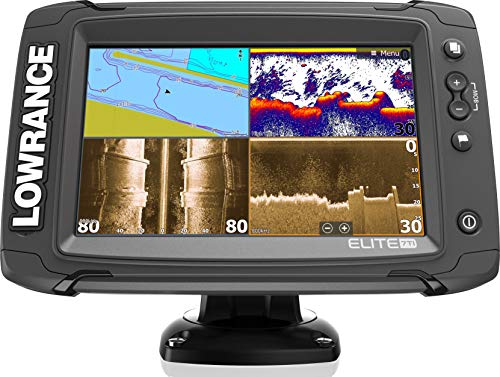 Elite-7 Ti - 7-inch Fish Finder with TotalScan Transducer and US and Canada Navionics+ Map Card
