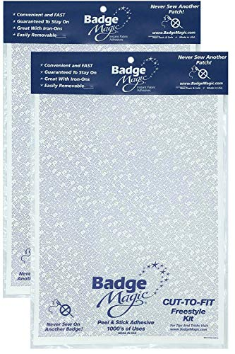 (Badge Magic Cut to Fit Freestyle Patch Adhesive Kit (2-Pack))