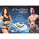 Global Abs Fitness Training - Electronic Muscular Stimulator (EMS) - Portable Electric Muscle Stimulation Ab Belt, Waist Trimmer and Body Toner - Sport Elec