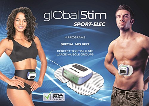 Verseo Global Abs Fitness Training - Electronic Muscular Stimulator (EMS) - Portable Electric Muscle Stimulation Ab Belt, Waist Trimmer and Body Toner - Sport Elec