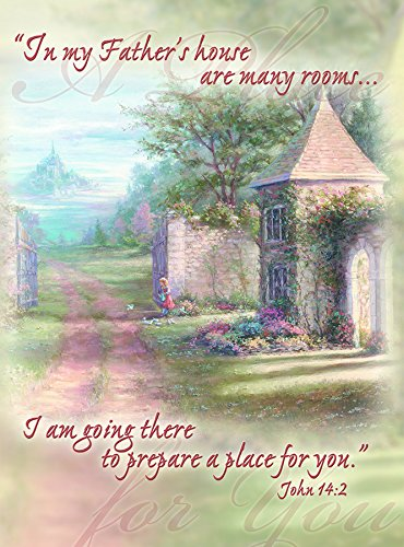 My Father's House Many Rooms Preparing You 5.5 x 7 Inch Sympathy Cards with Envelopes Set of 5
