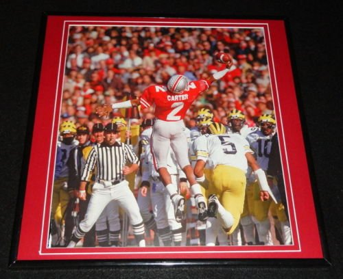 Cris Carter 1986 Ohio State Buckeyes Framed 12x12 Poster Photo (Cris Photograph Carter)