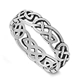 Best Infinity Rings Primes - Sterling Silver Women's Men's Celtic Knot Infinity Ring Review