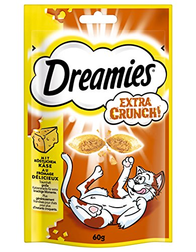 Dreamies Katzensnack Extra Crunch mit Käse, 6er Pack (6 x 60 g)