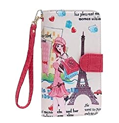 Nicole Lee Women S Bifold Wallet Wristlet Romanticist Design Shopping Girl