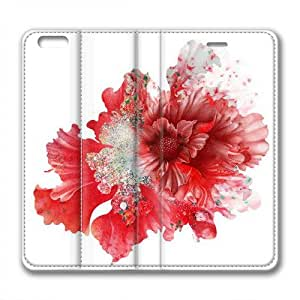 Enjoy happy life Iphone 6 leather Case,Iphone 6 Cases ,Dimensional flowers in full bloom Custom Iphone 6(4.7)High-grade leather Cases