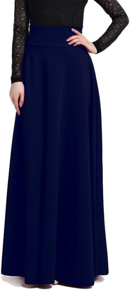 RIZ ZOAWD Maxi Jupes Femme Taille Haute Vintage Élégante Longues Jupes Dames Doux Confortable Jupe de serpillière S 5XL