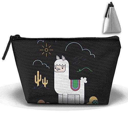 Llama Makeup Bag Storage Portable Travel Wash Tote