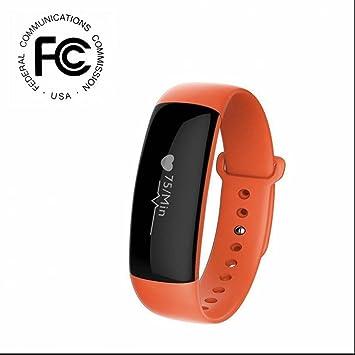 Podómetro Deportes y Aire Libre Reloj Inteligente Monitores De Actividad Pulsera Inteligente Con Tensiómetro y Monitor De Dormir Resistente Al Agua Pulsera ...