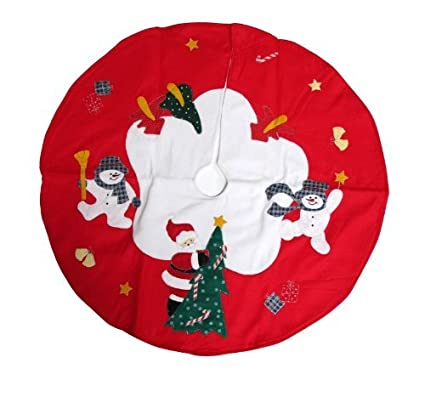 imperial home santa and frosty friends christmas tree skirt 36