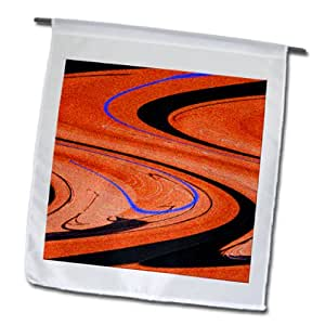 Jos Fauxtographee Designs - Orange, purple and black on a page and twisted - 12 x 18 inch Garden Flag (fl_99630_1)