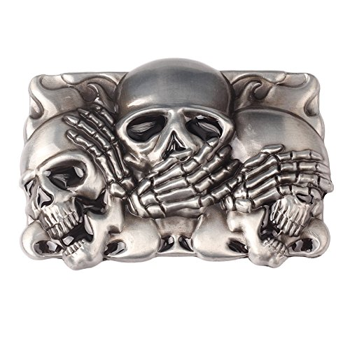 CattleDevil SKULL punk Western Cowboy Novelty Belt Buckles for Men Women (skull S2) Accessories Skull Belt Buckles
