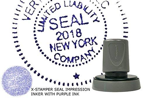 X Stamper Seal Impression Inker for Notary Public and Corporate Seals (Purple Ink)