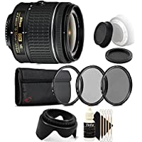 Nikon AF-P DX NIKKOR 18-55mm f/3.5-5.6G VR Lens for Nikon DSLR Cameras with Accessories