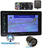 pkg Soundstream VRN-65HXB In-Dash 2-DIN 6.2' Touchscreen LCD DVD Receiver with Bluetooth, GPS Navigation and SiriusXM Ready + XO Vision HTC35 Backup Camera