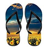 Terenccam Exceptional Sunflowers Colorful Rubber 6 B(m) Us Flip Flop (women)