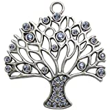 Fabscraps E7 153 Silver Embellishments (10 Pack), Tree of Life