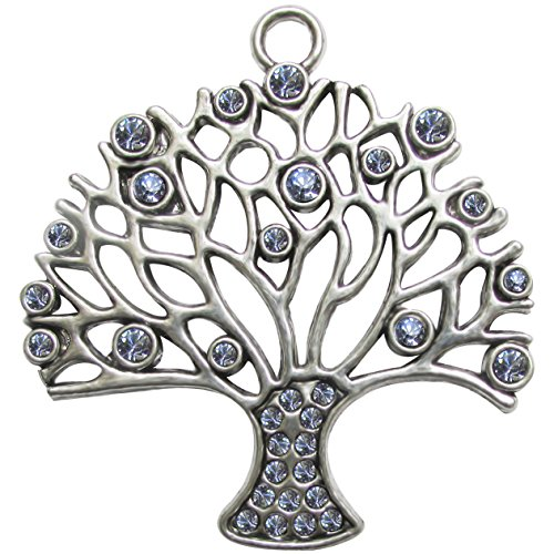 Fabscraps E7 153 Silver Embellishments (10 Pack), Tree of Life by FabScraps