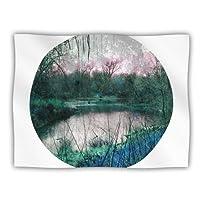 Kess InHouse Micah Sager 'Swamp' Lake Circle Dog Blanket, 40 by 30-Inch