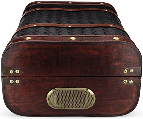 ClearClick Vintage Suitcase Turntable with Bluetooth & USB - Classic Wooden Retro Style 6