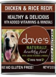 Dave's Naturally Healthy, Chicken & Rice for Dogs, 22 oz Can (Case of 12)