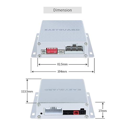 EASYGUARD EC002-T2-NS PKE Sistema de alarma de coche con ...