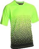 Vizari Ventura Short Sleeve Goalkeeper Jersey, Neon Green/Black, Size Adult Small