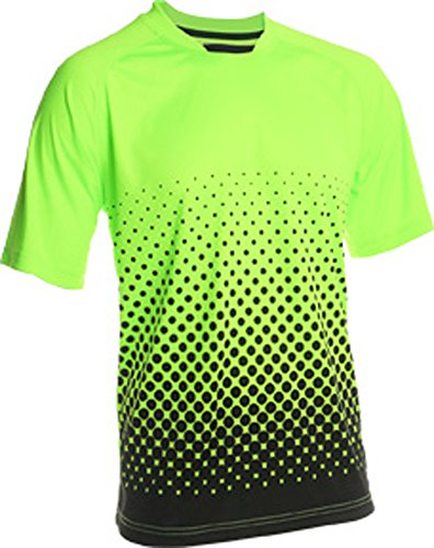 Graphic Jersey Goalkeeping (Vizari Ventura Short Sleeve Goalkeeper Jersey, Neon Green/Black, Size Youth Medium)