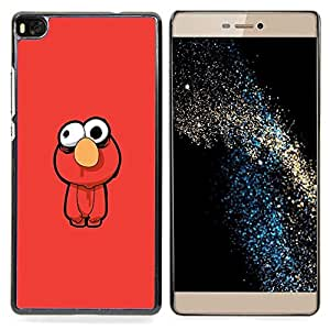 "Qstar Arte & diseño plástico duro Fundas Cover Cubre Hard Case Cover para Huawei Ascend P8 (Not for P8 Lite) (Gracioso - Muppt"")"