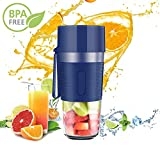WELLVO Portable Blender, Cordless Mini Personal Blender Small Smoothie Blender USB Fruit Juicer Mixer -Home Outdoor Travel Office - USB Rechargeable,IP68 Waterproof, BPA Free,13 oz
