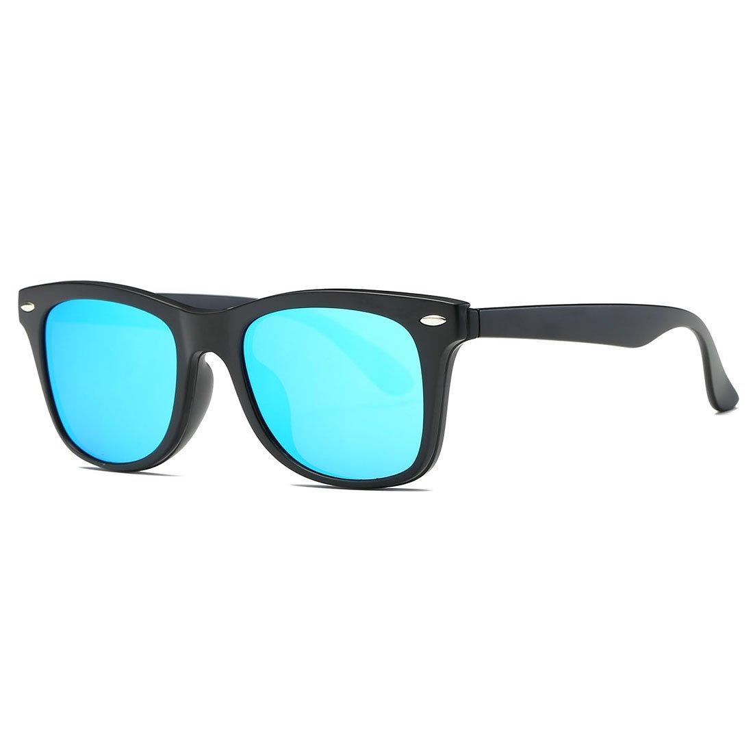 6d2bab2ba2d Galleon - AEVOGUE Magnetic Clip-on Polarized Sunglasses Mens 80 s Retro  TR90 Frame Dual Purpose Glasses AE0511 (Black Blue