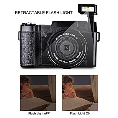 Digital Camera Camcorder Full HD 1080p 24MP Video Camera 3.0-Inch LCD Mini Vlogging Camera With UV Lens by Gongpon