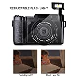 Digital Camera Camcorder Video Camcorders Vlogging Camera Full HD 1080p 24MP With Retractable Flash Light With UV Lens (HDV-G12-FBA)