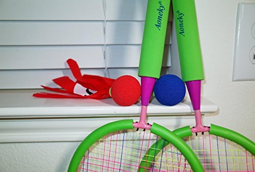 Outdoor Toys Age 4 : Aoneky kids badminton set toddler outdoor toys by age